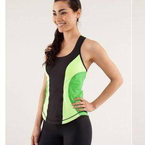 Lululemon Cardio Kick Tank Size 2 Green